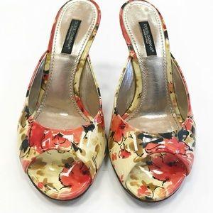 Dolce & Gabbana Floral Peep Toe Heels